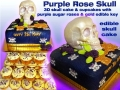 PURPLE ROSE SKULL