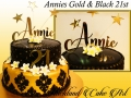 ANNIES GOLD AND BLACK 21ST