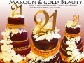 MAROON AND GOLD BEAUTY
