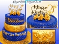 ROYAL BLUE & GOLD 21ST