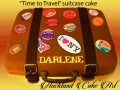 """time to travel"" suitcase cake"