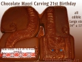 CARVED CHOCOLATE 2 AND 1