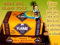 BEER BOX CAKE - FLAME