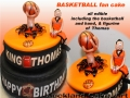 BASKETBALL FAN CAKE