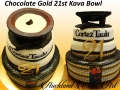 CHOCOLATE GOLD 21ST KAVA BOWL