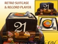 RETRO SUITCASE AND RECORD PLAYER