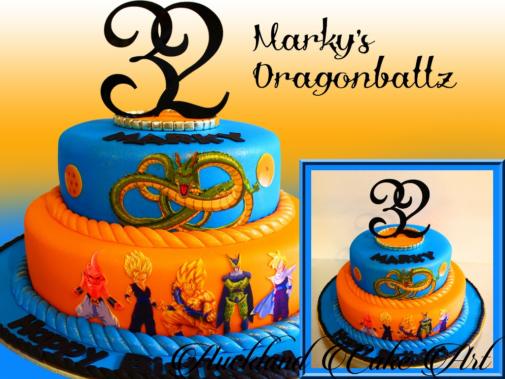 Birthday cakes men auckland cake art markys dragonballz sciox Image collections