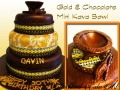 GOLD AND CHOCOLATE MINI KAVA BOWL