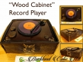 WOOD CABINET RECORD PLAYER