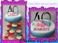 KARENS FLORAL CAKE AND CUPCAKES