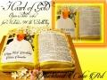 HEART OF GOLD NIUE BIBLE CAKE