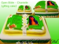 OPEN BIBLE CAKE LARGE