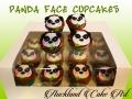 PANDA FACE CUPCAKES