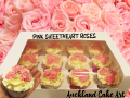 PINK SWEETHEART ROSES CUPCAKES