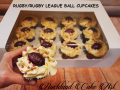 RUGBY BALL CUPCAKES
