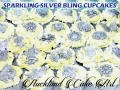 SPARKLING SILVER BLING CUPCAKES
