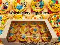 WORD PARTY CUPCAKES