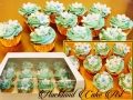 blue frangipani cupcakes