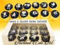 navy & silver baby shower