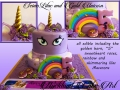 SEINIS LILAC AND GOLD UNICORN