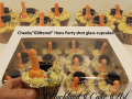GLITTERED HENS PARTY CUPCAKES