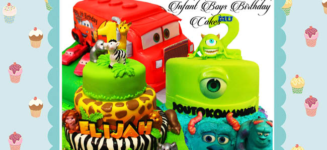 Infant Boys Birthday Cakes